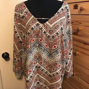 TORRID patterned blouse